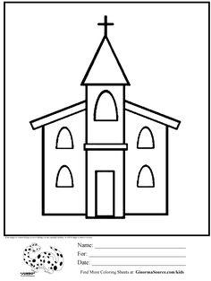 Church Coloring Page Educationcom VilleTownCiudad