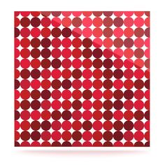 "KESS Original ""Noblefur Red"" Dots Luxe Square Panel"