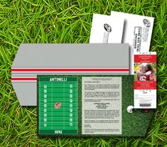 Take a look at our Deluxe Wedding Invitation Package for Football Themed Weddings - SportsThemedWeddings.com.