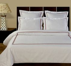 Amy 5 Piece Embroidered Egyptian Cotton Duvet Cover Set