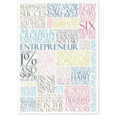 Quotes for Entrepreneurs - Poster from Aurea.dk