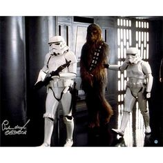 """Star Wars Peter Mayhew Signed """"Chewbacca"""" Prisoner of Storm Troopers 16"""" x 20"""" Photo Poster"""