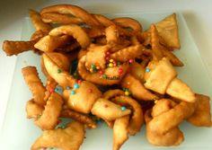 Bugie - Nudos fritos de carnaval con masa de vino ~ Pasteles de colores