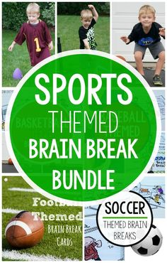 A super fun way to engage your sports lover in gross motor! This is awesome for classroom brain breaks, preschool gross motor, OT, PT, SLP or physical education! Step away from worksheets and technology and try out this fun sports pack that will be perf Fine Motor Activities For Kids, Sports Games For Kids, Movement Activities, Sensory Activities, Therapy Activities, Physical Activities, Sensory Play, Therapy Ideas, Childcare Activities