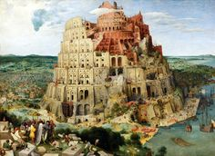 """Pieter Brueghel, """"La Torre de Babel"""". Una magnífica obra de arte colmada de detalles."""