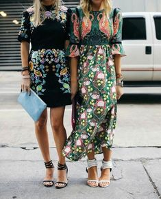 Floral dresses and ankle strap sandals #summer