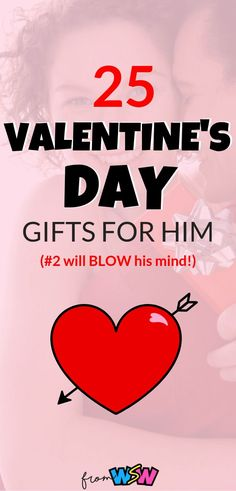 It's almost Valentine's Day - the most romantic holiday of the year.  But, what on earth are you supposed to get your guy?!  We understand your troubles, and we're here for you.  With this epic guide of 25 Valentine's Day gifts for him, you're guaranteed to blow his mind.  These Valentine's Day gifts for him will show him how much you care...and maybe he'll even share a chocolate covered strawberry with you ;) Don't miss out on these 25 epic Valentine's Day gifts for him!  #valentinesday