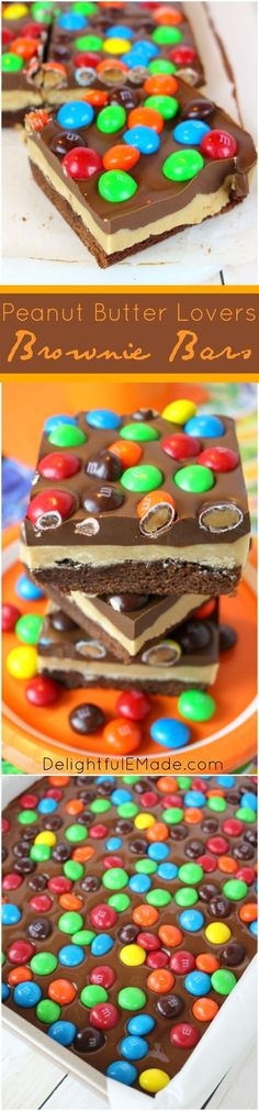 Peanut Butter Lovers Brownie Bars.
