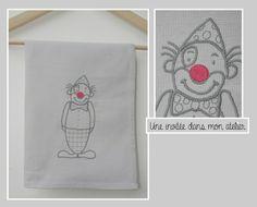 serviette de table- enfant-clown
