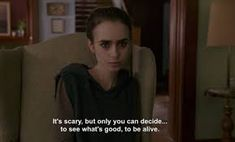 Lily Collins as Ellen To The Bone To The Bone Quotes, Bones Quotes, Soul Quotes, To The Bone Movie, Trouble, Movie Lines, About Time Movie, Lily Collins, Film Quotes
