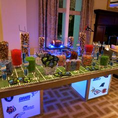 Football Candy Buffet by Covered In Candy