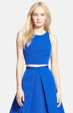 Tibi 'Katia' Faille Crop Top | Nordstrom