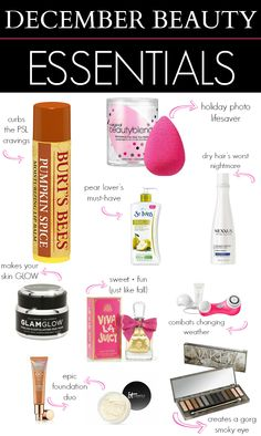 December beauty essentials. Obsessed with this Burts Bees Pumpkin Spice lip balm!