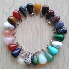ca6671d9f820 Envío gratis 50 unids lote clasificados mezclados al por mayor de piedra  natural colgantes de