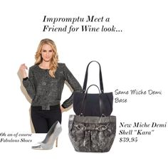 """Impromptu meet a friend look""  http://teriloves.miche.com    Check out our Cyber wek-end sale starting Friday November 23-26"