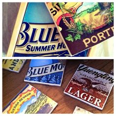 Coasters made from beer boxes! My favorite!