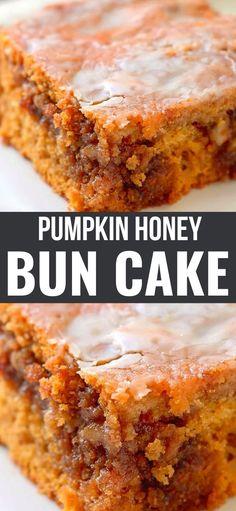 Fall Desserts, Delicious Desserts, Dessert Recipes, Yummy Food, Recipes Dinner, Pumpkin Cake Recipes, Pumpkin Dessert, Pumpkin Pumpkin, Pumpkin Cakes