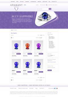 E-Commerce Portal for Adamant Gems, Croatia by eDesigners. Ceylon Sapphire, Blue Sapphire, Croatia, Ecommerce, Portal, Cart, Gems, Shopping, Covered Wagon