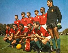 Portugal team group at the 1966 World Cup Finals.