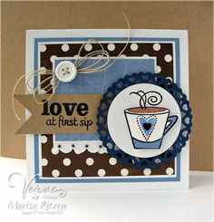 Love At First Sip - Verve Stamps Inspiration Gallery. Better With You stamp set.