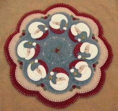 PatternMart.com ::. PatternMart: Believe~Christmas Penny Rug/Candle Mat Pattern
