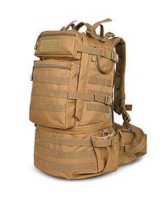 MaxMiles Heavy-Duty Small 45 Liter Tactical Camo Backpack...