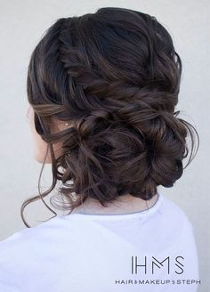 Loose serpentine braids make this updo standout. Hair & Makeup by Steph, Wedding Hairstyles, Hair Updos: