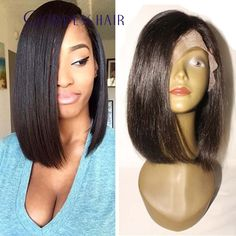 Best human hair bob full lace wigs with side bangs full lace bob wig unprocessed Malaysian virgin bob lace front wig baby hair