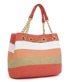 This Coral & Toast Chain Shoulder Bag by Magid is perfect! #zulilyfinds