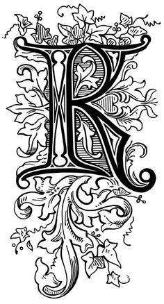 K Letter In Style ... alphabet letter idea initial lettering styles different fonts alphabet