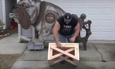 """Well-known woodworker Izzy Swan experiments with creating a transforming """"impossible bench,"""" ending up with three pieces of furniture in one"""