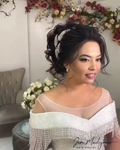 Bridal Hair Style Step by Step <br> Easy Bun Hairstyles For Long Hair, Simple Bridal Hairstyle, Step By Step Hairstyles, Loose Hairstyles, Bride Hairstyles, Bridal Hair Tutorial, Wedding Hairstyles Tutorial, Hair Up Styles, Medium Hair Styles