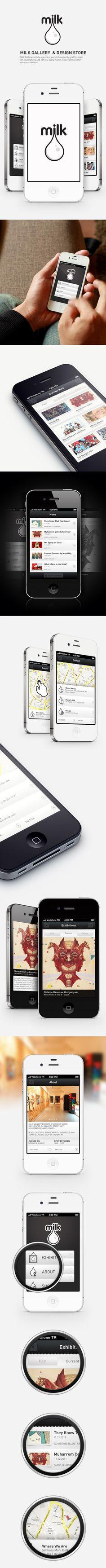 Milk Gallery - iPhone App / Gokhun Guneyhan