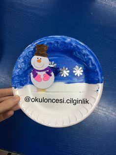 Kardanadam ⛄️❄️ Winter Activities For Toddlers, Winter Crafts For Kids, Easy Crafts For Kids, Holiday Activities, Toddler Crafts, Preschool Crafts, Diy For Kids, Hand Print Tree, Winter Schnee