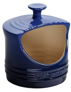 LE CREUSET Stoneware Salt Crock 10-Ounce Cobalt $29.95 BEST PRICE GUARANTEE FREE WORLD SHIPPING (LOCAL ORDER PICK UP IS ALSO AVAILABLE & GET 20% OFF)