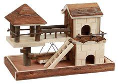 Casa para hámster con elementos para trepar 37 x 21 x 25 cm: Amazon.es: Productos para mascotas
