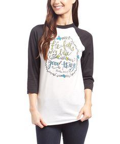 Look what I found on #zulily! White 'Good Things' Raglan Tee #zulilyfinds