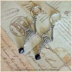 Ophelia Earrings ~ Art Deco, Jazz Age, 1920s-inspired OOAK Great Gatsby-style filigree leverback earrings