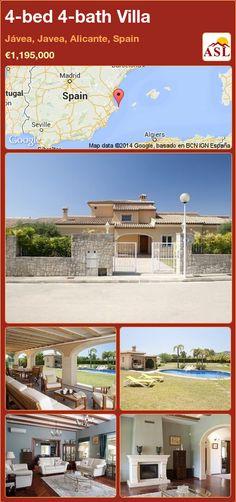 4-bed 4-bath Villa in Jávea, Javea, Alicante, Spain ►€1,195,000 #PropertyForSaleInSpain