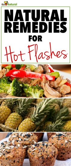 """Hot flashes, hot flushes, night sweats, power surge… personal summer – the number of terms to describe this oh-so-vexing symptom of """"the time"""" in a woman's life is as varied as the women that are affected. The good news is there are a lot of great Natural Remedies For Menopause, Natural Home Remedies, Herbal Remedies, Health Remedies, Natural Health Tips, Natural Healing, Natural Foods, Natural Products, Natural Oil"""