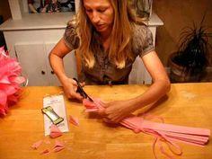 How to Make a Martha Stewart Tissue Pom