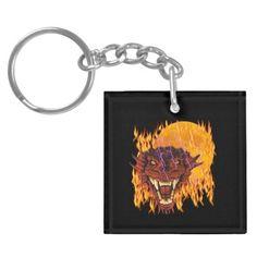Moon Dragon Key Chain Acrylic Keychain