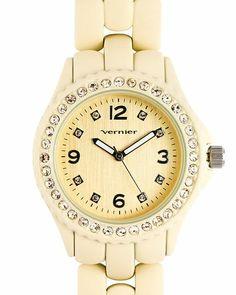 Vernier gold bling watch