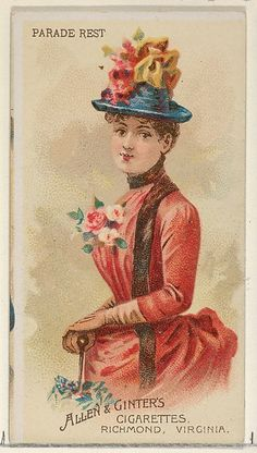 Parade Rest, from the Parasol Drills series (N18) for Allen & Ginter Cigarettes Brands