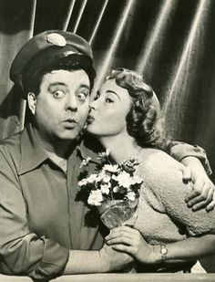 The Honeymooners- Ralph Kramden (Jackie Gleason) and Alice Kramden (Audrey Meadows)
