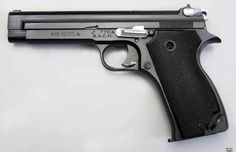 "The very elegant SACM 1935 A (""A"" for ""Alsace""), ancestor of the SIG P210"