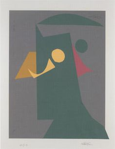 Danish-born artist Richard Mortensen (1910-1993) © Silkeborg Bad, Denmark