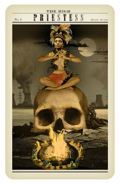 High Priestess ~ Zombie Tarot by Paul Kepple and Stacey Graham