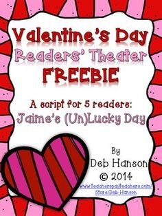 Included in this freebie is one of the four scripts in my Valentine's Readers' Theater BUNDLE (a set of 3 scripts including parts! Drama Activities, Reading Activities, Reading Fluency, Teaching Reading, Valentines Day Activities, Holiday Activities, Readers Theater, 4th Grade Reading, School Holidays