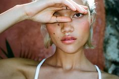 Charlotte Carey wearing the NARS Matte Multiple in Laos. CC is one of the most beautiful women alive, imo.